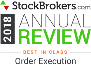 Interactive Brokers reviews: 2018 Stockbrokers.com Awards - rated Best in Class in 2018 for Order Execution